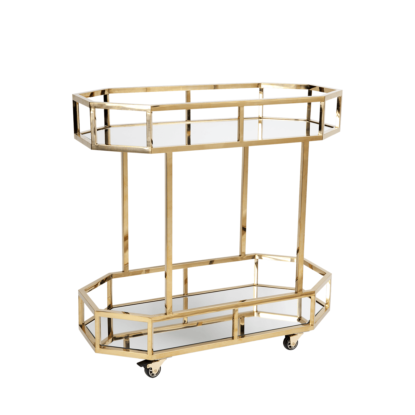 Brooklyn Drinks Trolley - Gold-Attica-luxury bar furniture