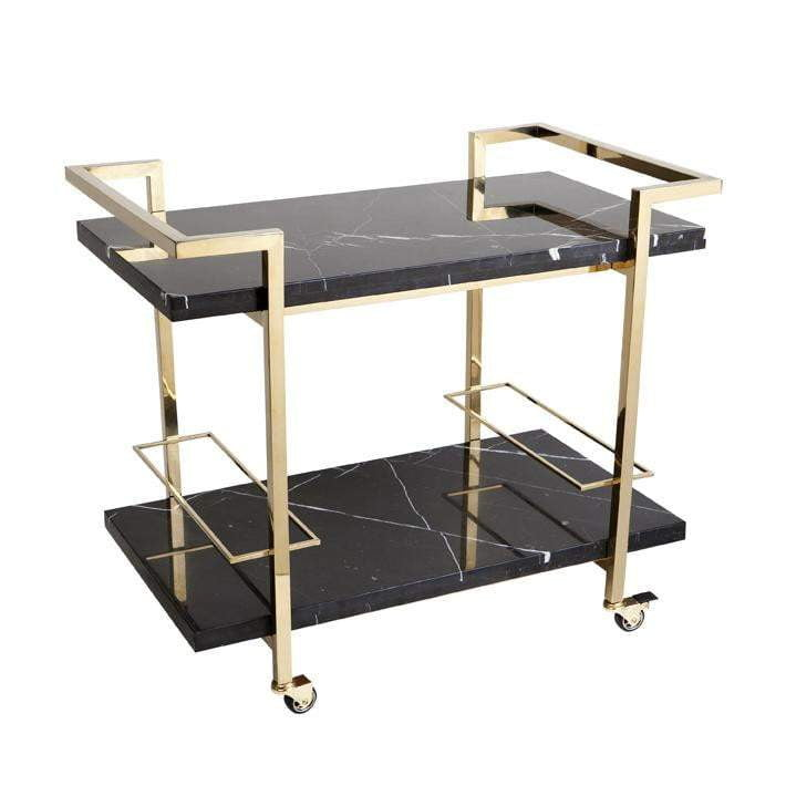 Franklin Drinks Trolley - Black-Attica-luxury bar furniture