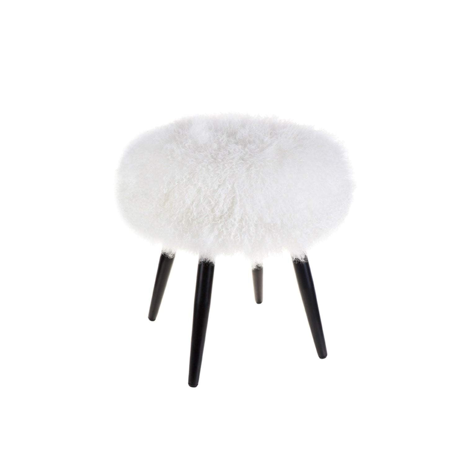 Dixie White Footstool - Fur