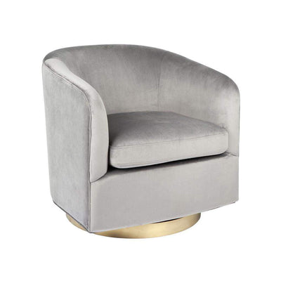 Belvedere Swivel Arm Chair Charcoal | Luxury Furniture Sydney | Attica Home