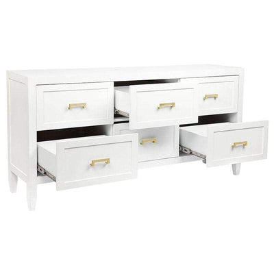 Soloman White & Gold Chest of Drawers