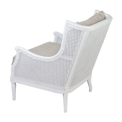 Havana Cane Armchair White | Luxury Furniture Sydney