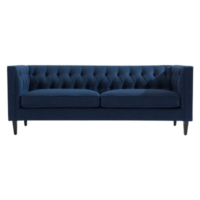 Tuxedo Button Tufted Sofa - Navy Velvet