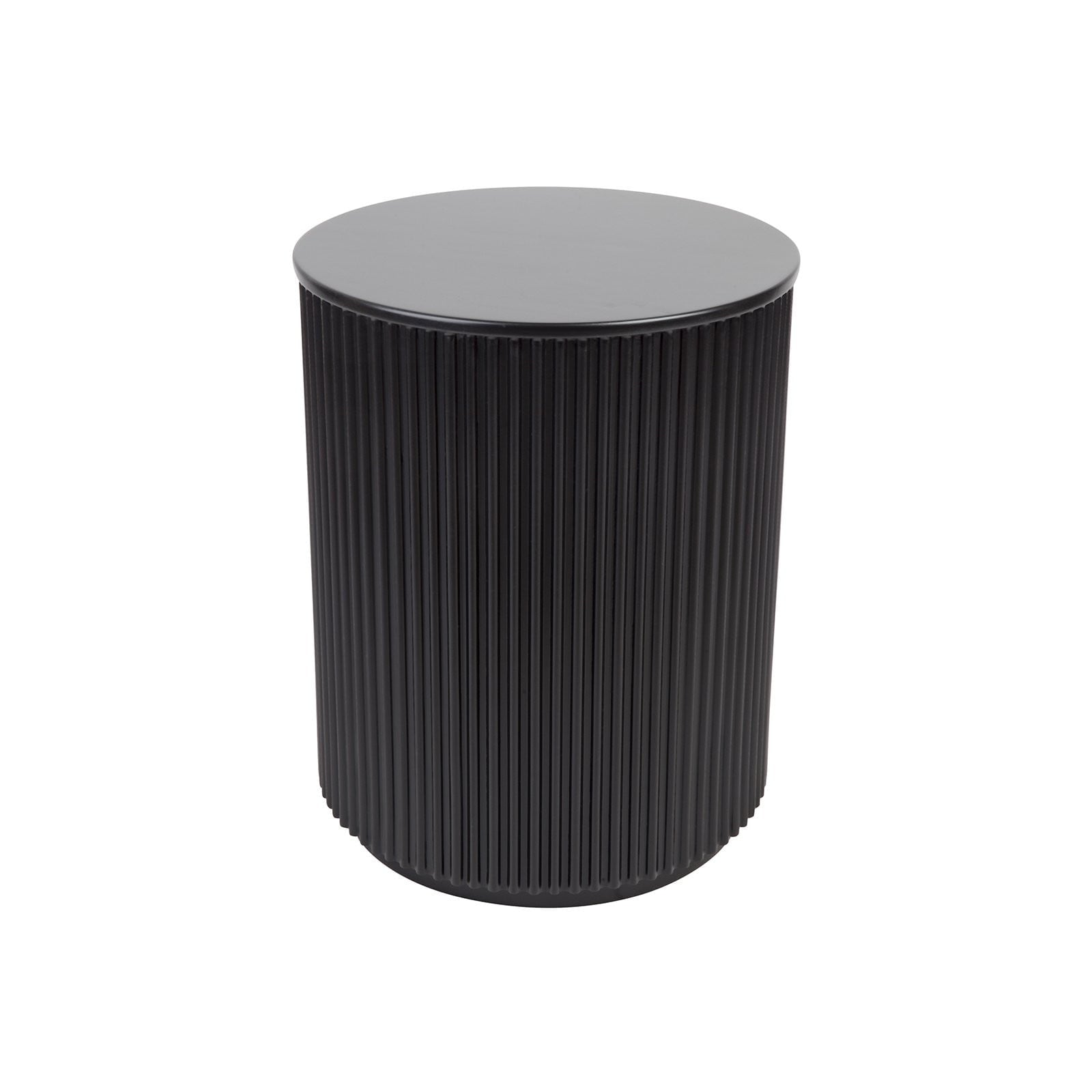 Nomad Black Round Side Table | Attica House Luxury Furniture Sydney