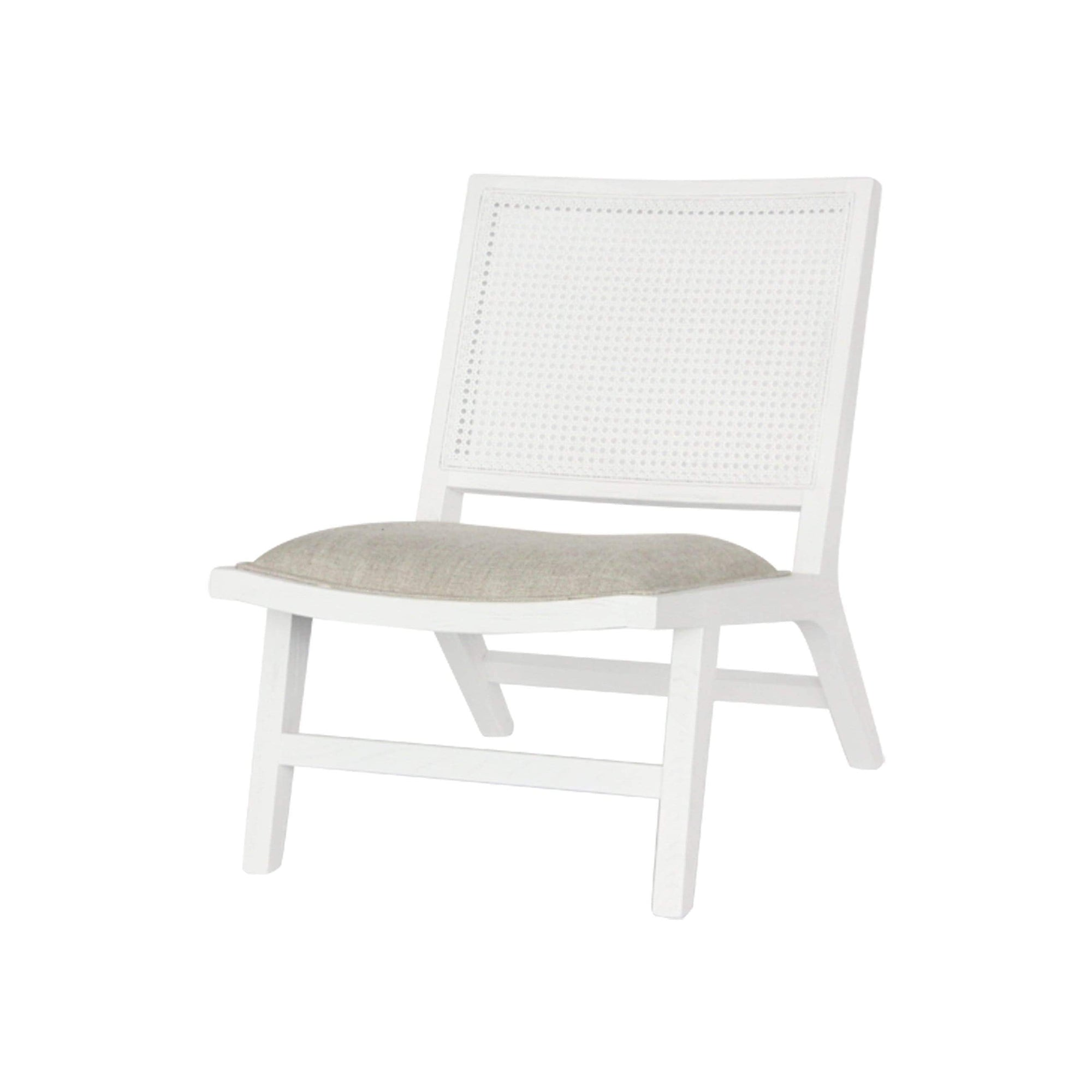 Palmer Rattan Occasional Chair white | Luxury Furniture Sydney