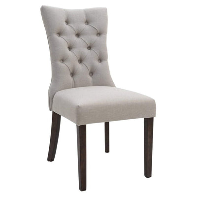 Preston Tufted Dining Chair Taupe | Luxury Furniture Sydney