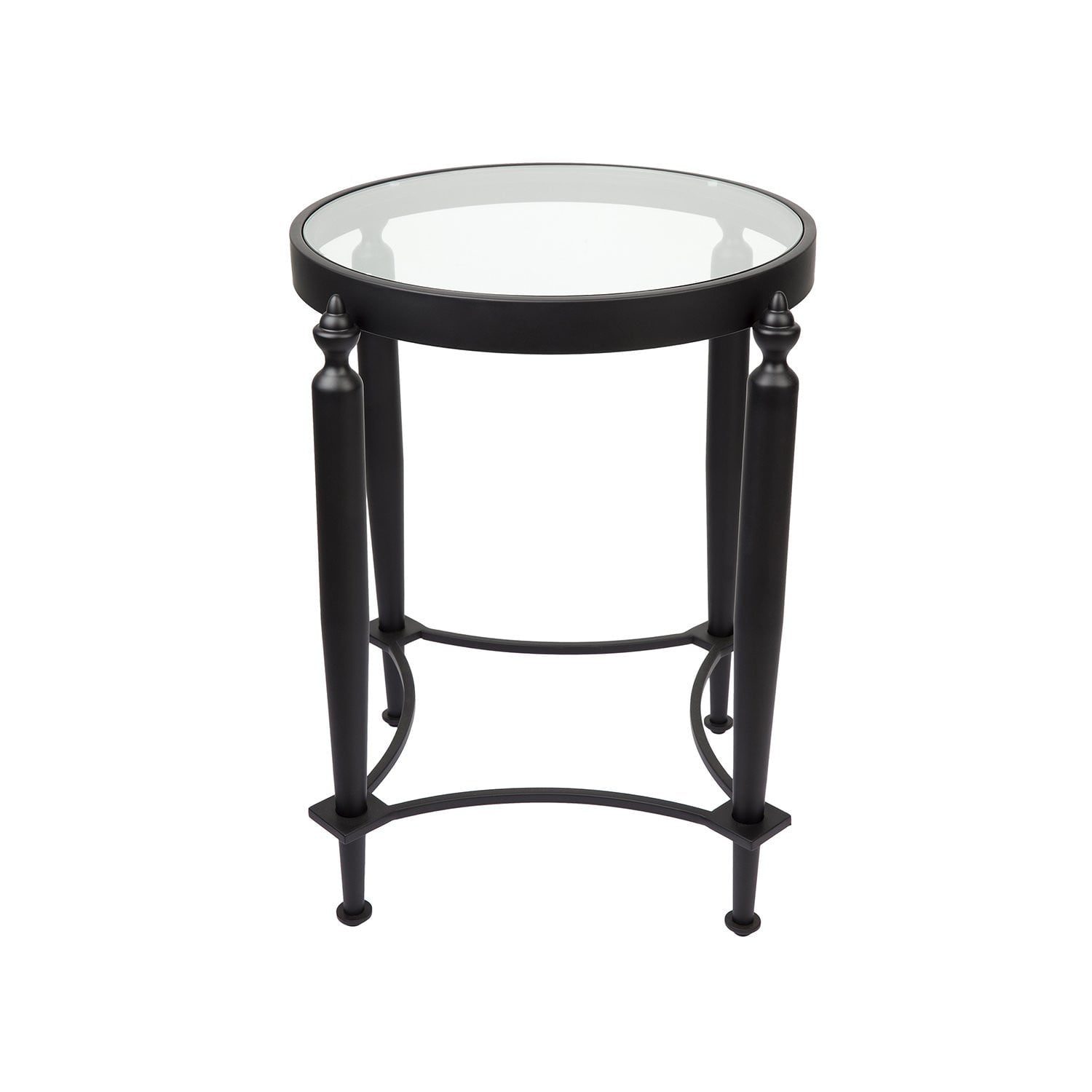 Jak Black Glass Side table | Luxury Furniture Sydney