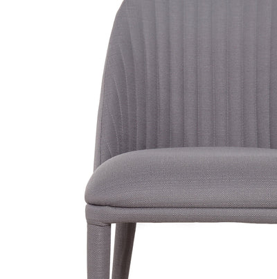 Dante Panelled Dining Chair Charcoal