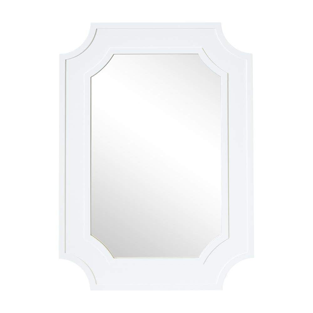 Bungalow White Rectangle Mirror