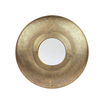 Shield Round Gold Wall Mirror