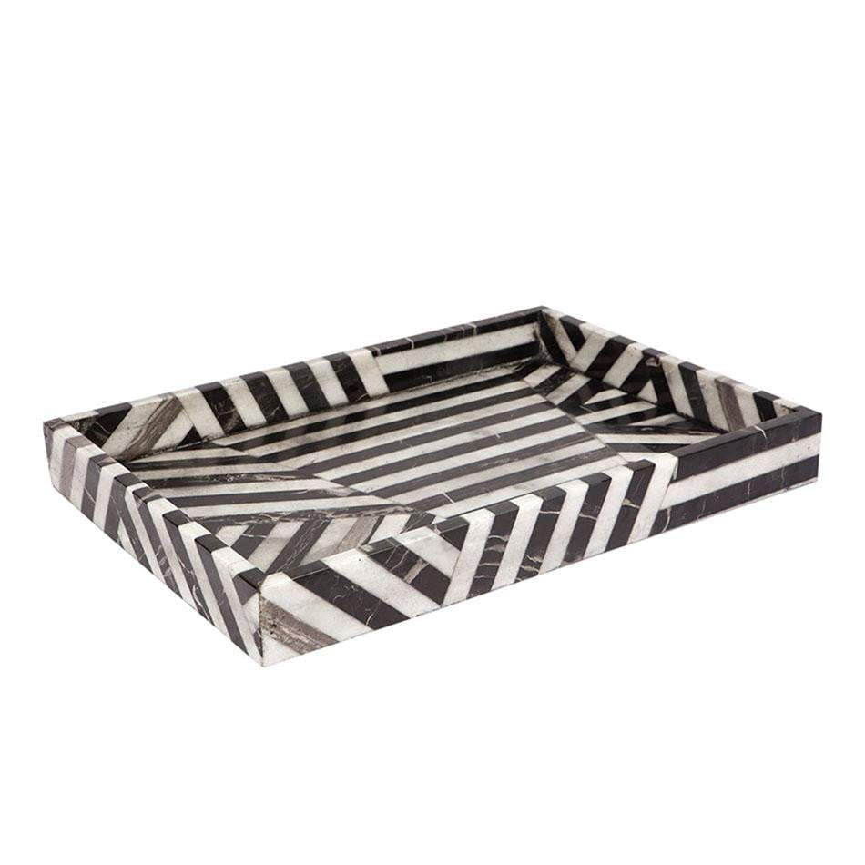 Hillcrest rectangular striped tray