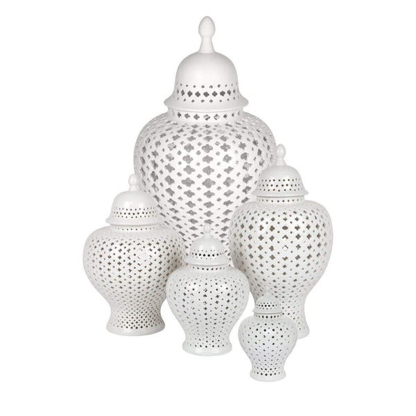 Minx Temple Jar Range - White