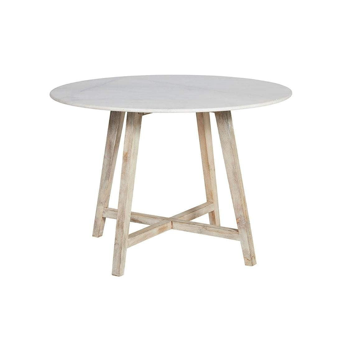 Irving Round Marble Dining Table