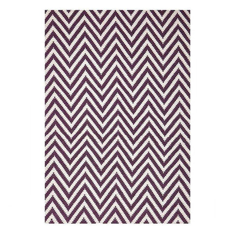 Purple Chevron Rug