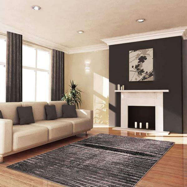 Aquila Black Granite and White Rug