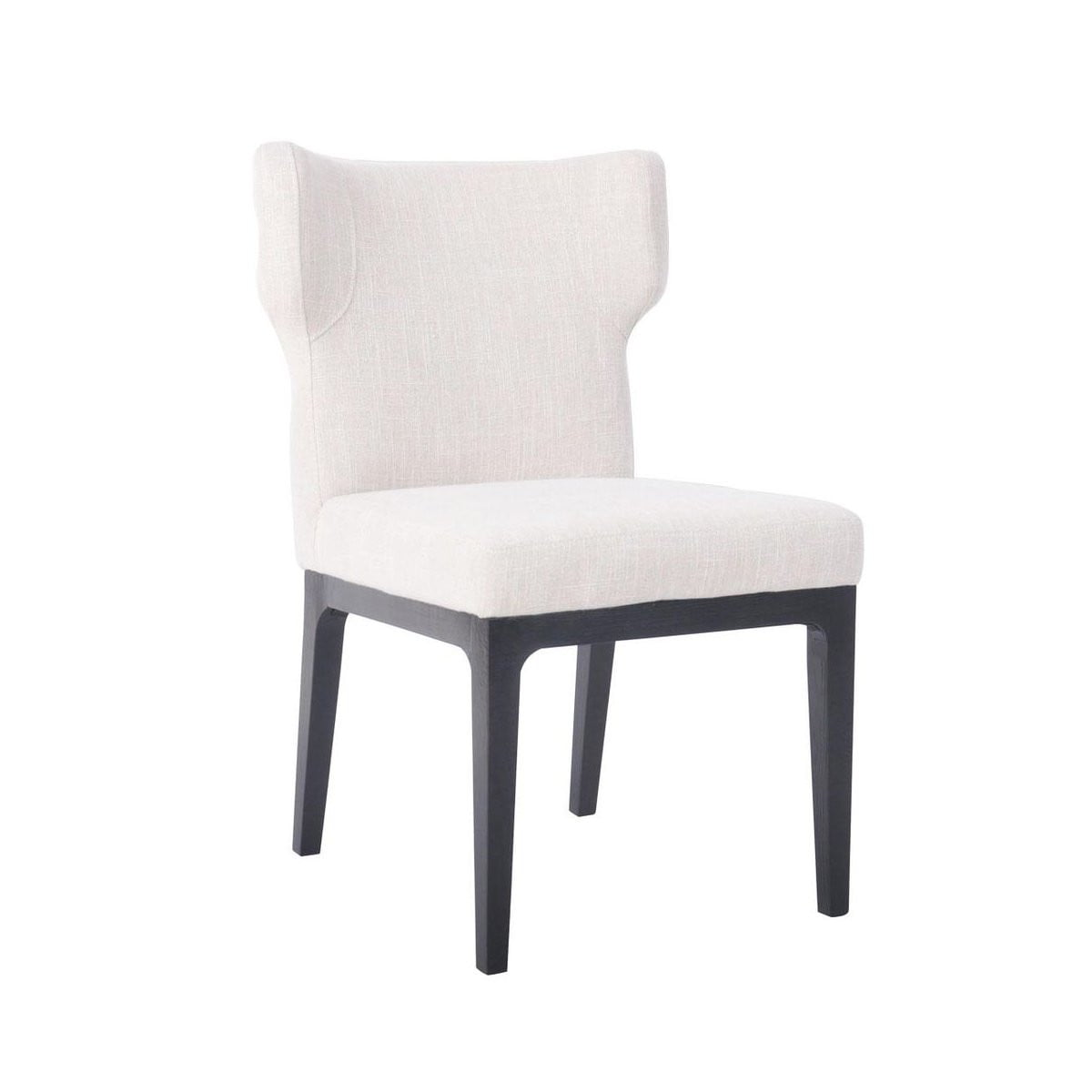 Ashton Black Dining Chair - Natural Linen
