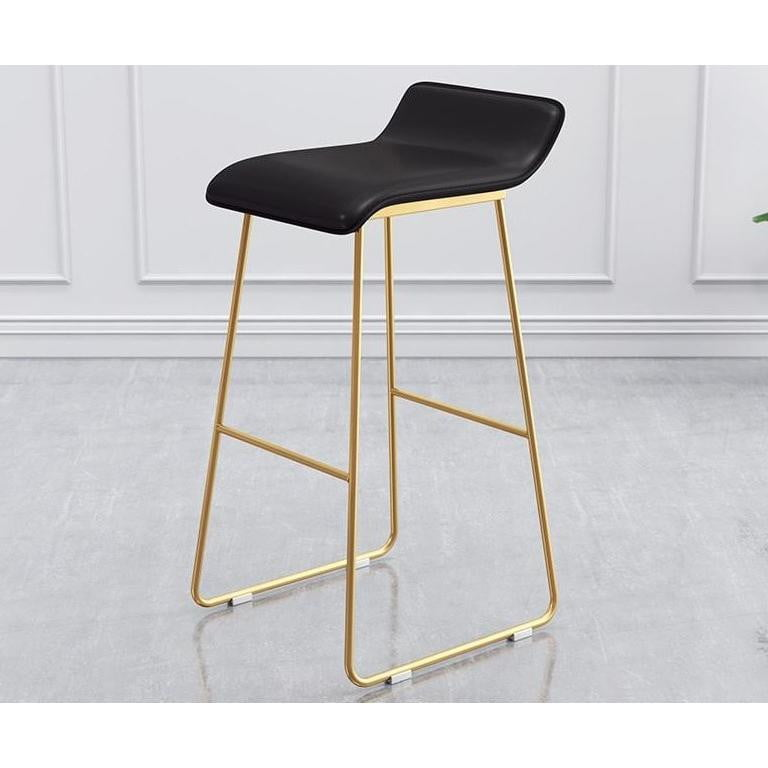 Audrey Kitchen Stool Black & Gold | Attica Home Bar