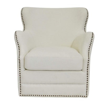 Autumn Swivel Linen Arm chair Ivory | Luxury Furniture Sydney