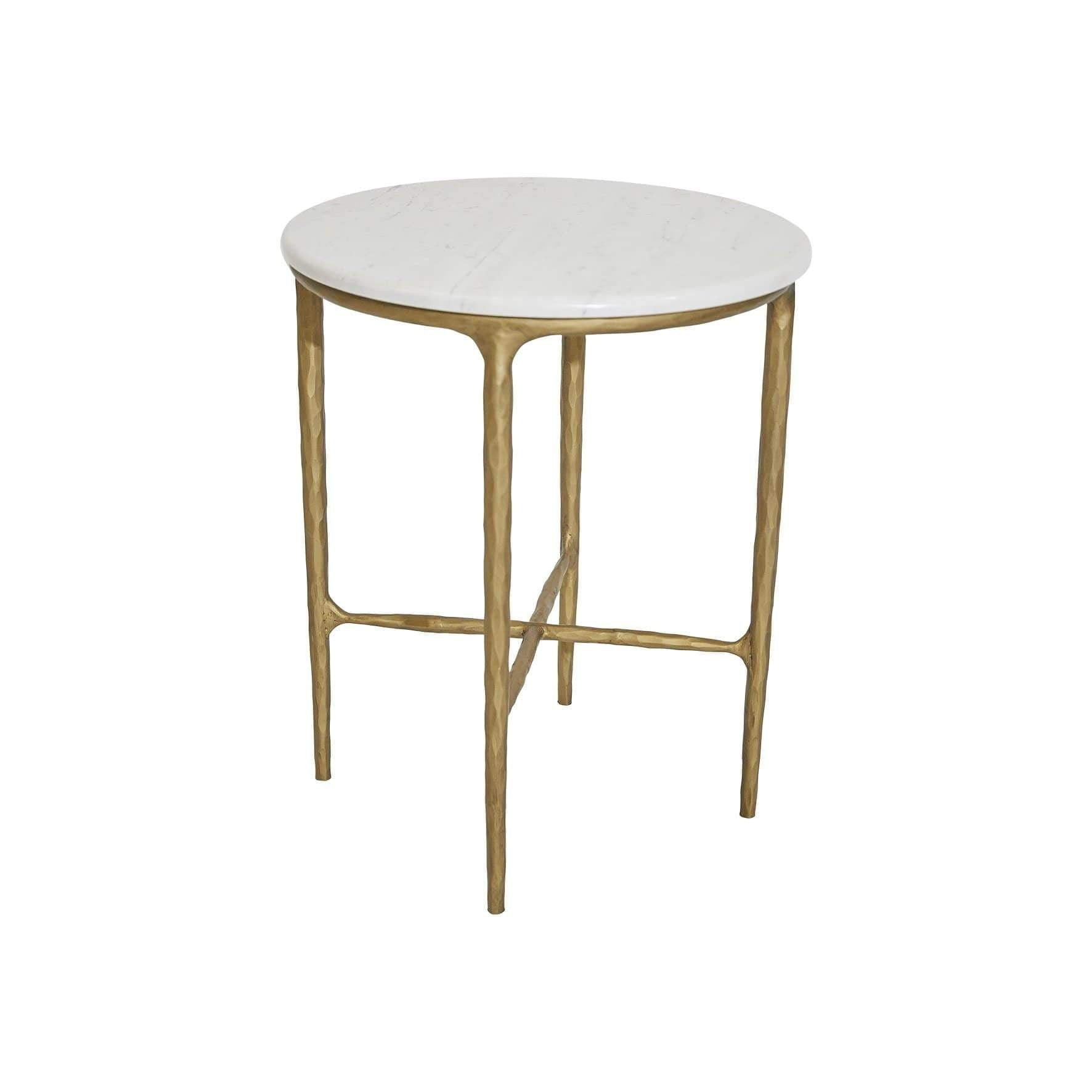 Heston Marble Side Table Gold | Luxury Furniture Sydney
