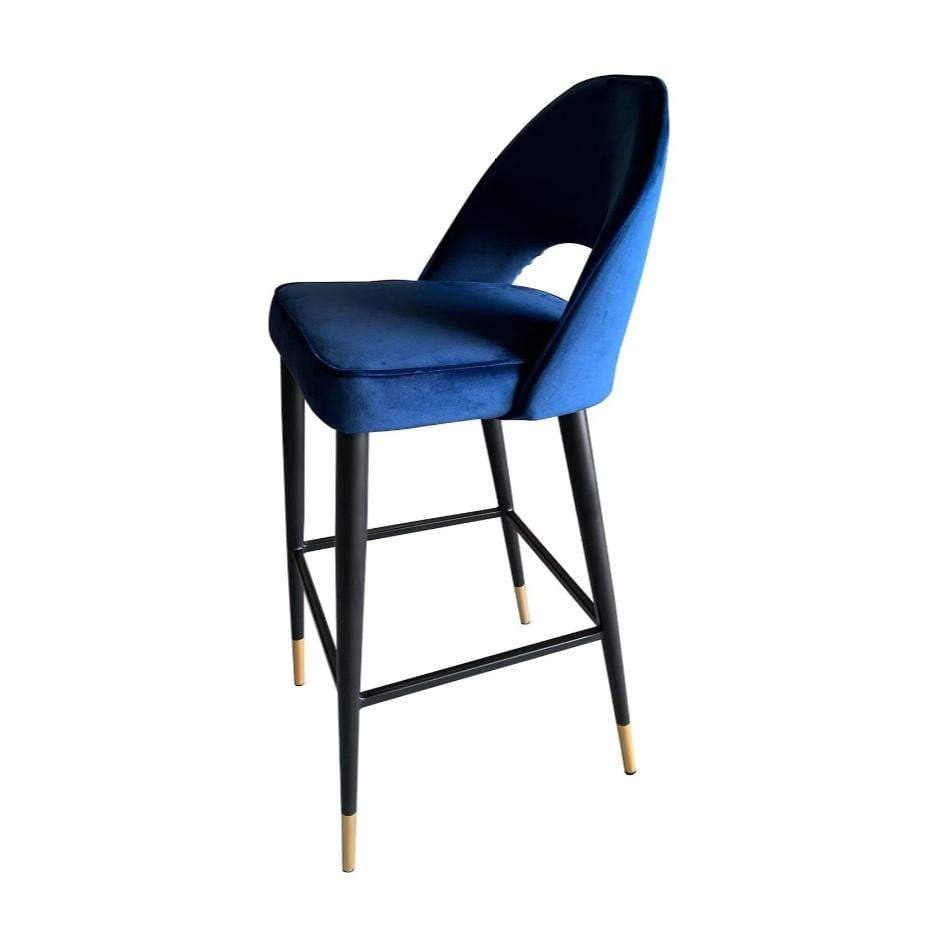 Bourdain Blue Velvet Bar Stool