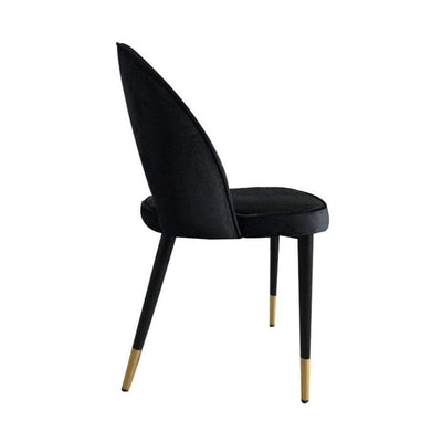 Bourdain Dining Chair Black Velvet | Attica Home | Luxury Furniture Sydney