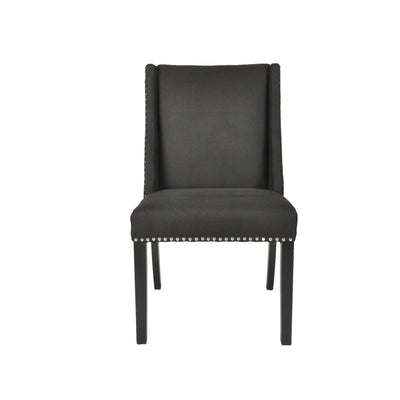 Braydon Linen Dining Chair - Black