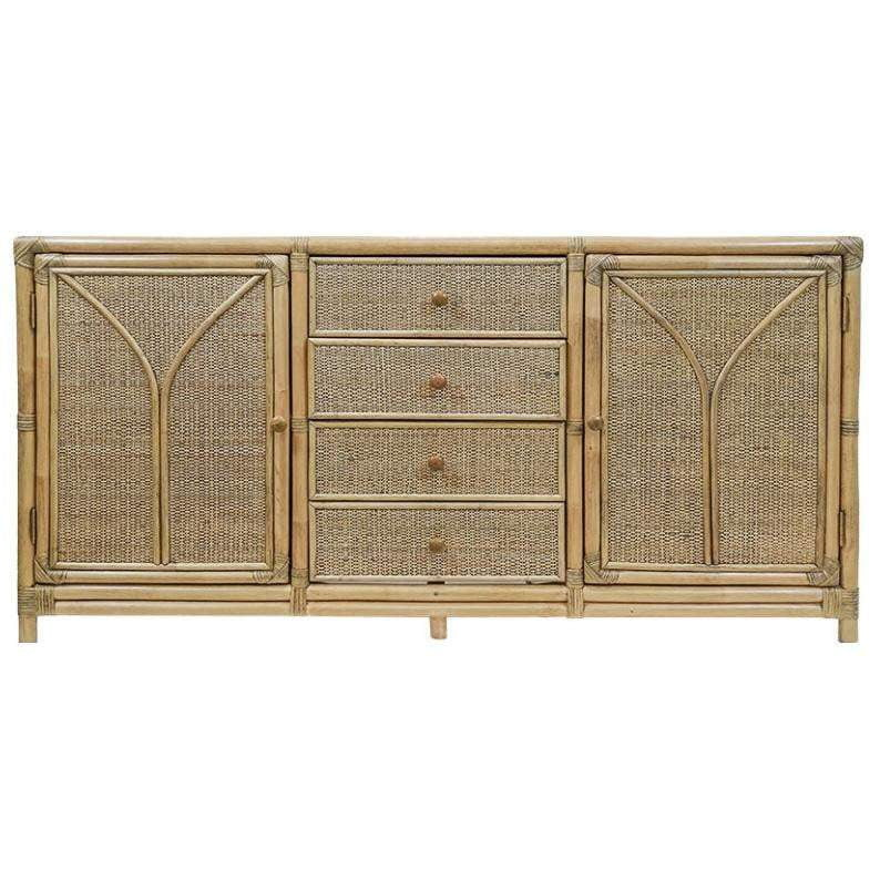 Breeze Rattan Buffet Natural | Luxury Furniture Sydney