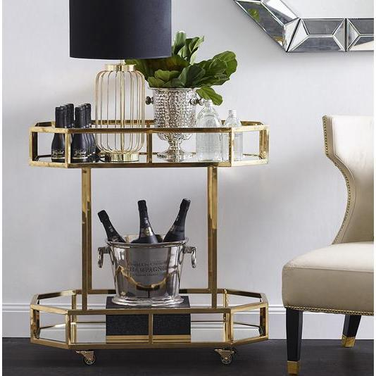 Brooklyn Gold Drinks Trolley | Attica Luxury Furniture Sydney