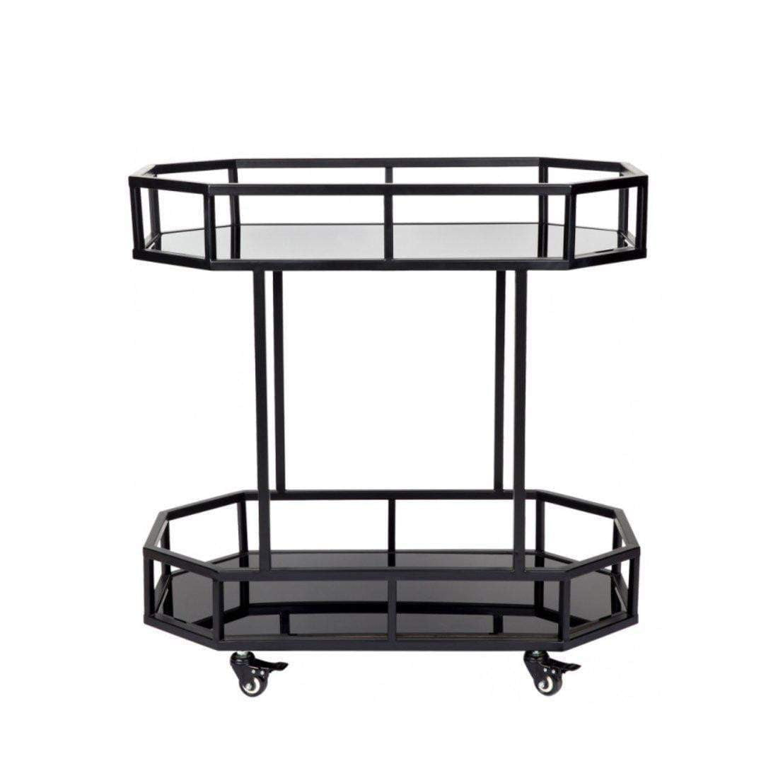 Brooklyn Drinks Trolley - Black-Attica-luxury bar furniture