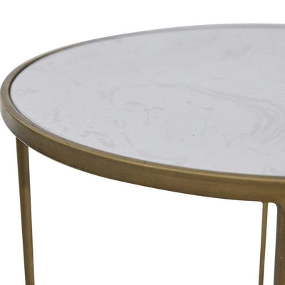 Cameron Gold Side Table Detail