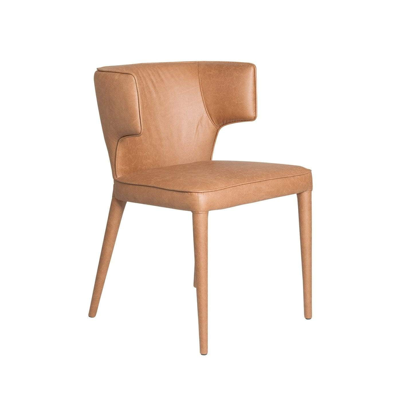 Portofino Tan Leather Dining Chair
