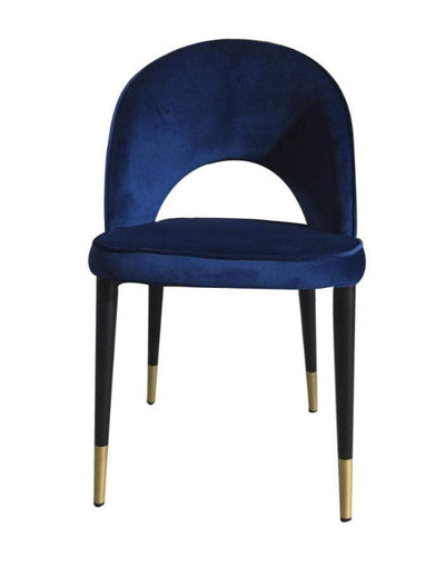 Bourdain Blue Velvet Dining Chair Front