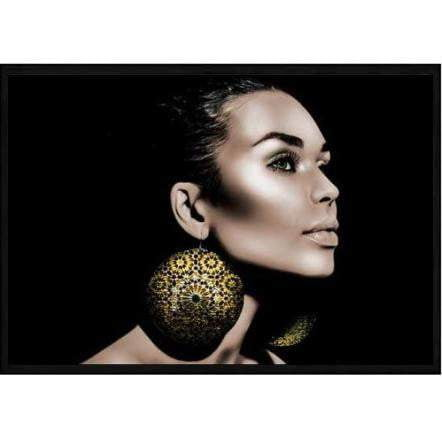 Beautiful Woman Fashion Wall Art - Gold