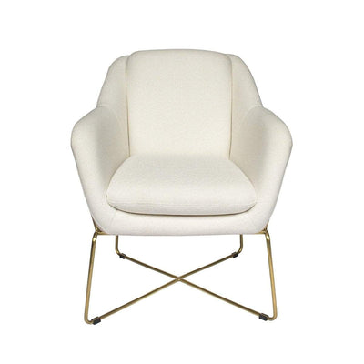Milan Fabric Armchair | Gold Armchairs