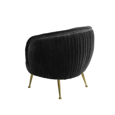 Paris Black Velvet Armchair | Luxury Furniture Sydney