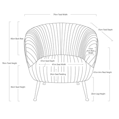Paris Velvet Armchair - Black