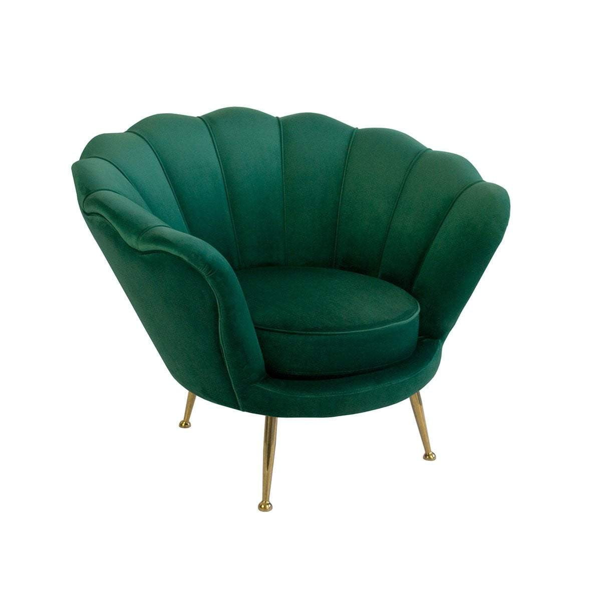 Manhattan Green Velvet Armchair