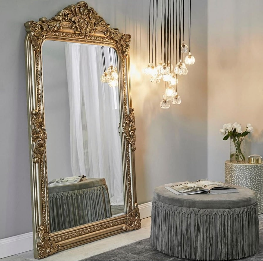 Elizabeth Antique Gold Floor Mirror | Attica Luxury Furniture Sydney