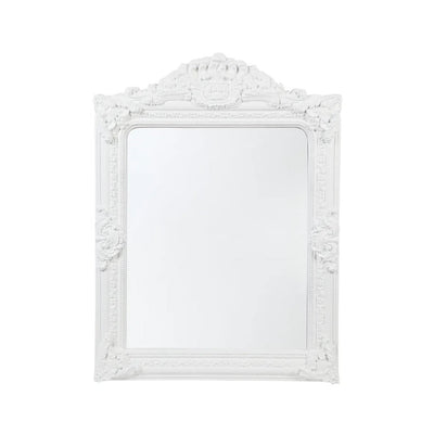 Elizabeth Ornate Wall Mirror - White