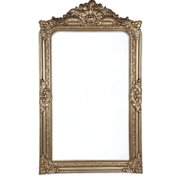 Elizabeth Antique Gold Floor Mirror