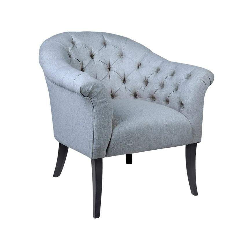 Georgina Button Tufted Occasional Chair - Grey