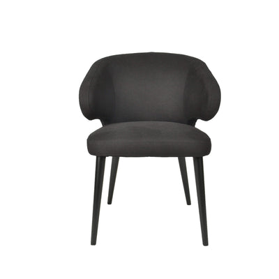 Harlow Dining Chair - Black Linen
