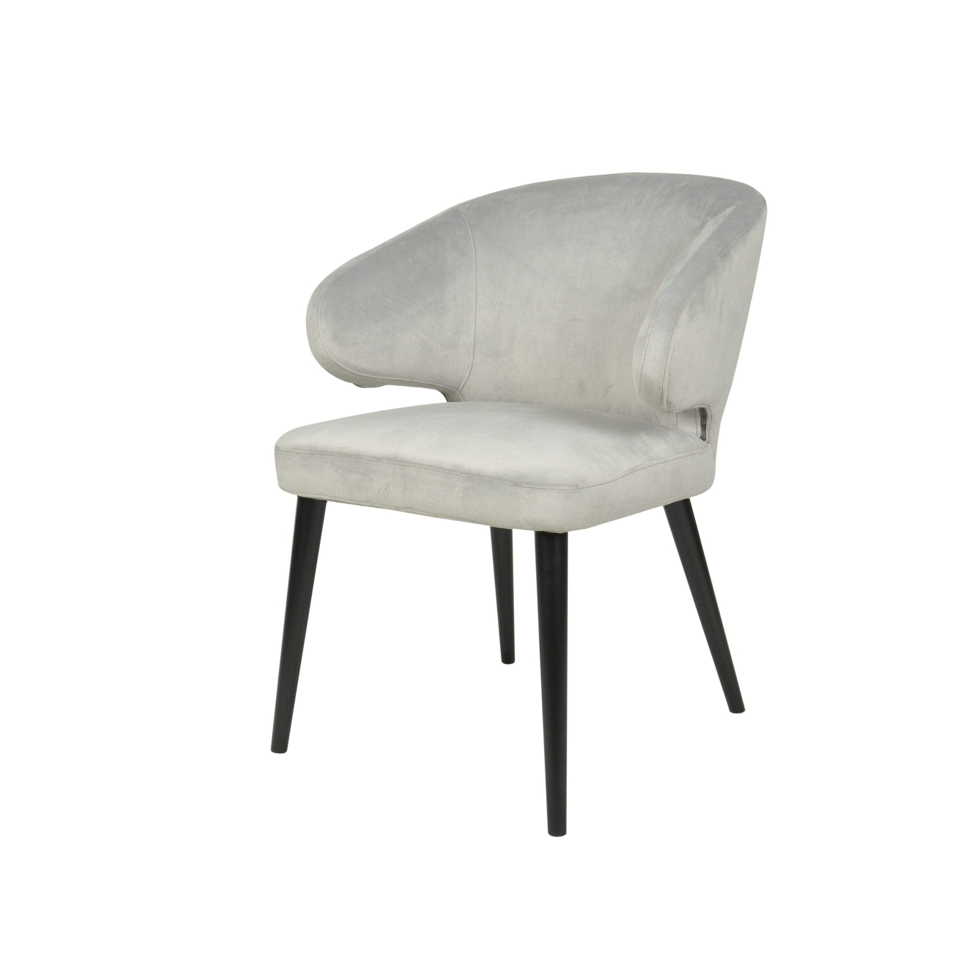 Harlow Dining Chair - Grey Velvet