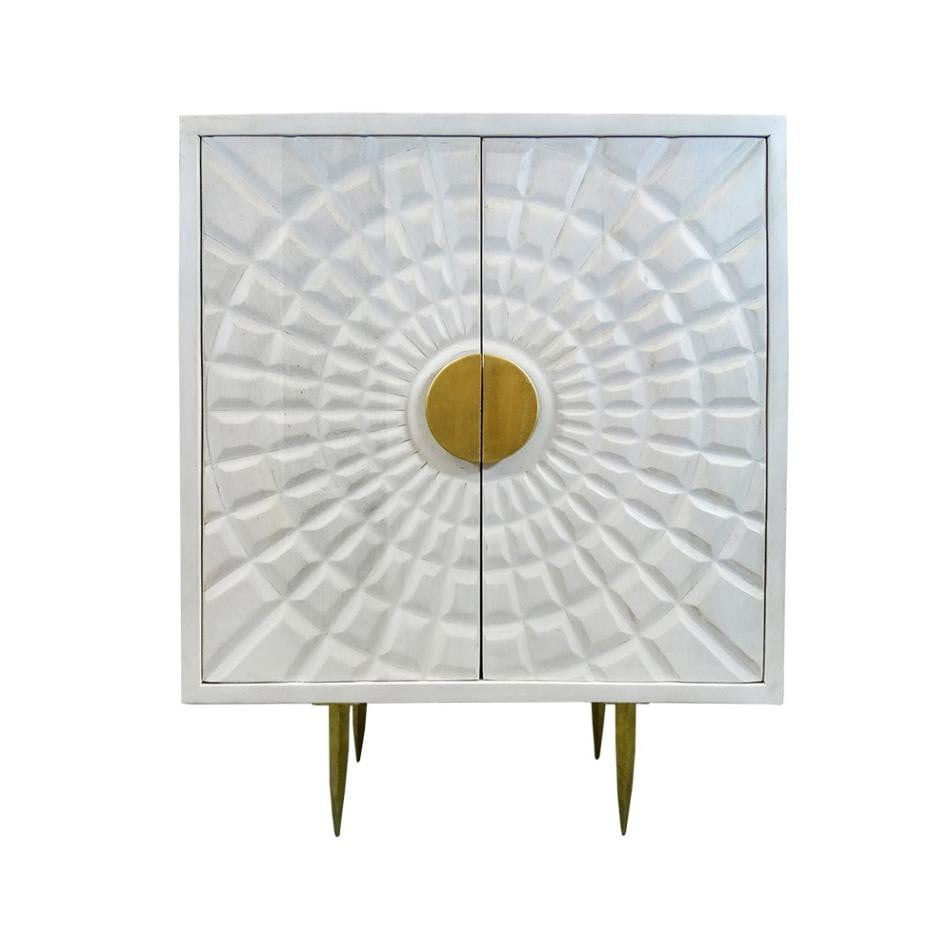 Hayley Handcrafted White cabinet | Attica Luxury Furniture Sydney