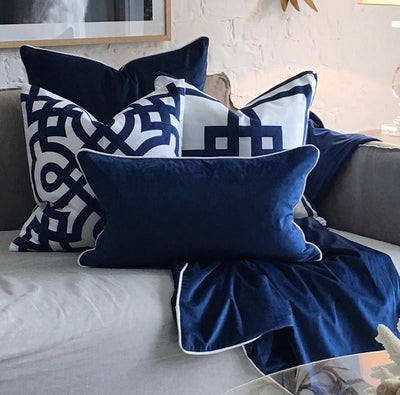 Kirribilli Navy Cushion Cover | Luxury Furniture Sydney