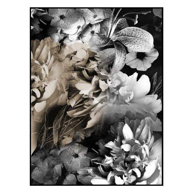 Koko Dark Floral Wall Art