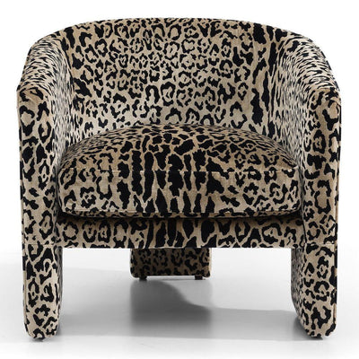 Kylie Accent Chair - Leopard Chenille