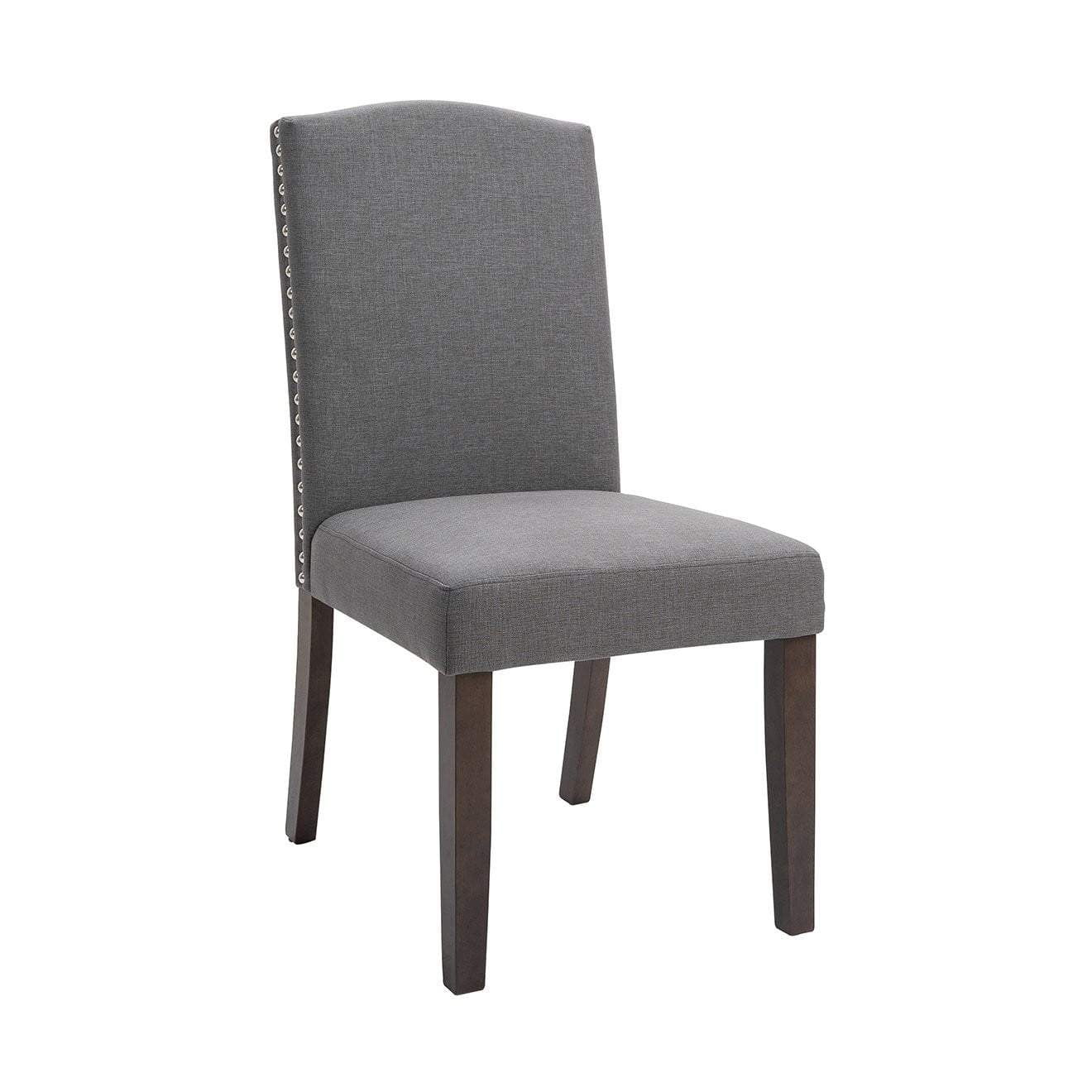 Lethbridge Studded Dining Chair Light Grey  | Luxury Furniture Sydney
