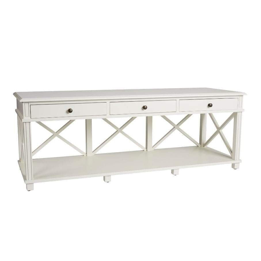 Sydney Hamptons TV Unit - White