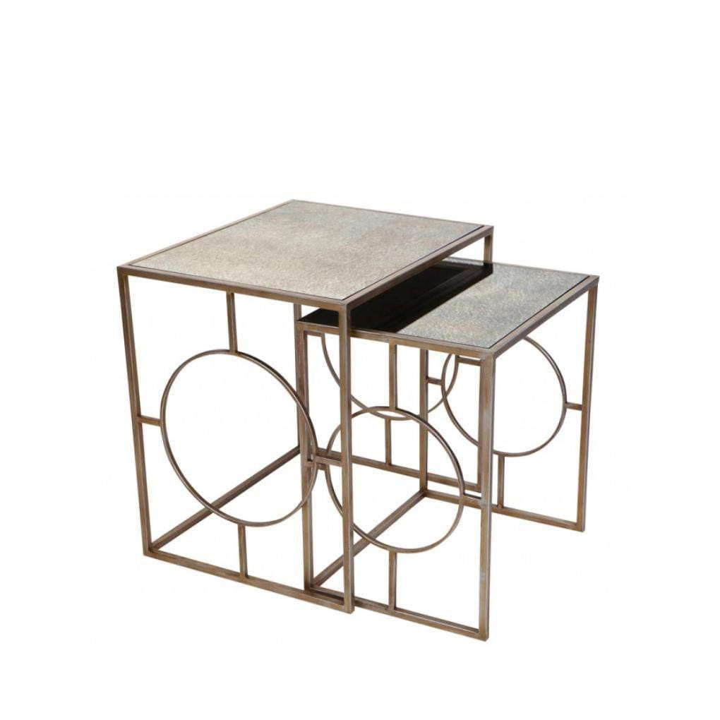 Melrose Gold Nesting Side Tables